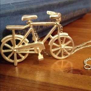 Jewelry - Gold Bicycle Necklace